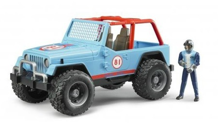 Bruder 02541 Jeep Cross Country Blue z figurką