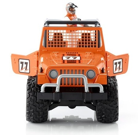 Bruder 02542 Jeep Cross Country Orange z figurką