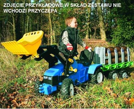 Traktor na pedały New Holland z łyżką ROLLY TOYS 046713